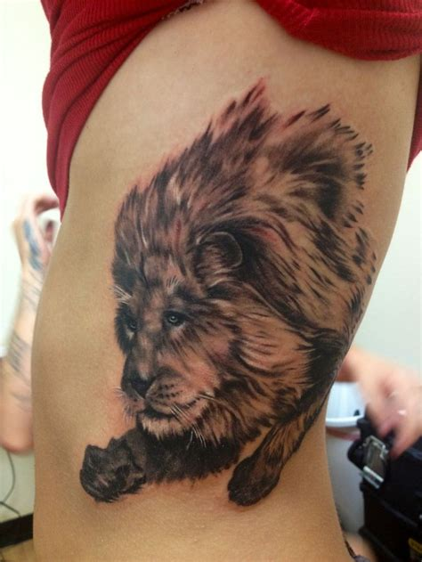 lion side tattoo and couldn t be happier with the results