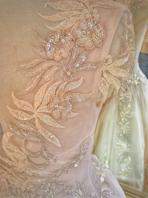 Blush Silk Wedding Gown Couture Embroidered TulleJoanne ... Gates Of Heaven Design