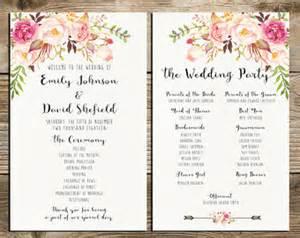Diy Wedding Program Fan Template Wedding Announcements Etsy Au