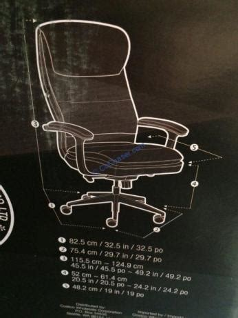 beautyrest black executive office chair model