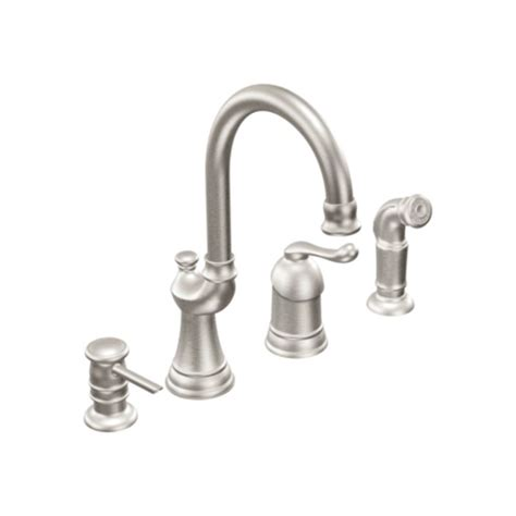 moen black kitchen faucet faucet ca87002csl in classic stainless by moen