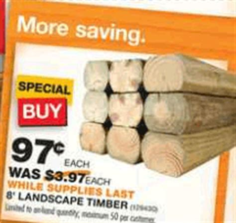 Landscape Timbers At Walmart Home Depot 8 Ft Landscape Timbers Only 97