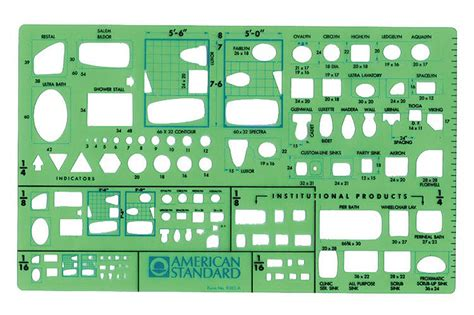 American Standard Templates For Autocad | american standard 9383ta plumbing template plumbing plan