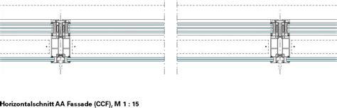 horizontalschnitt aa closed cavity fassade ccf m 1 15