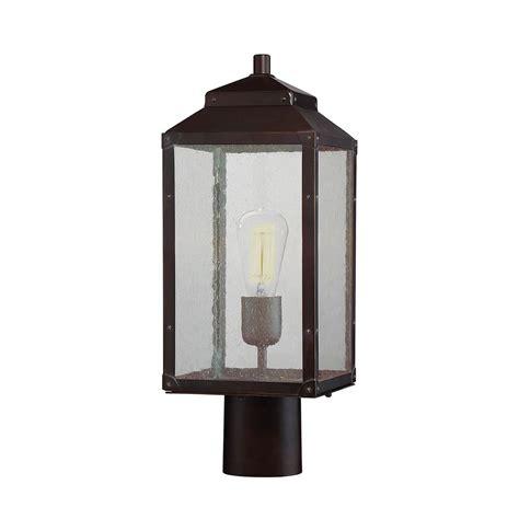Home Depot L Posts Outdoor by Filament Design 1 Light Outdoor Bronze Post Light