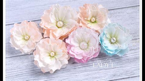 Handmade Foam Flowers - handmade silk foam flower tutorial giveaway my crafts