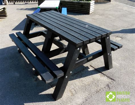 half picnic table bench recycled plastic picnic tables