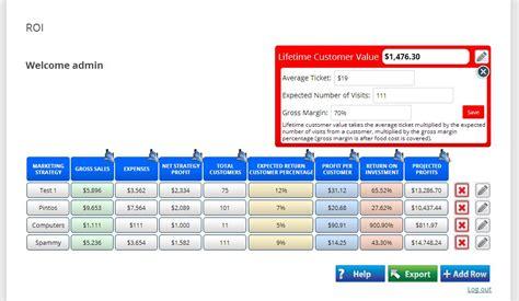 calculator web roi calculator web application rob harris design