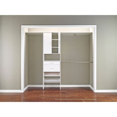 Closetmaid Laminate Closet Organizer closetmaid suitesymphony laminate closet organizer 7 10 foot white target 140 condo