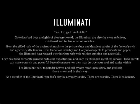 illuminati sayings now you see me mystery of the iniquity