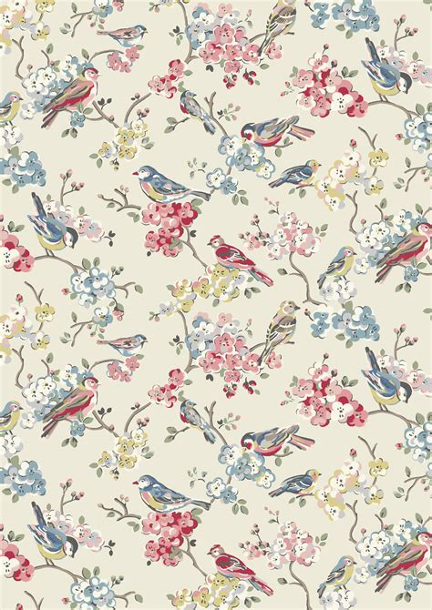 wall pattern floral blossom birds we ve returned to one of our favourite