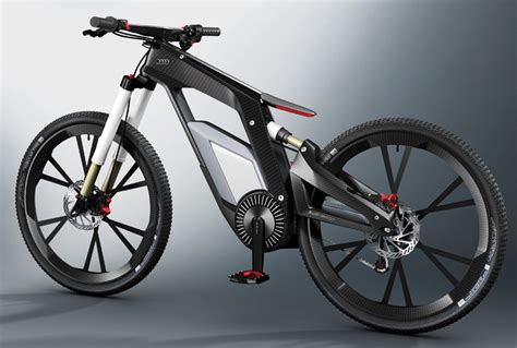 an electric trials bike from audi bicycle design