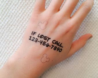temporary tattoo numbers emergency contact etsy