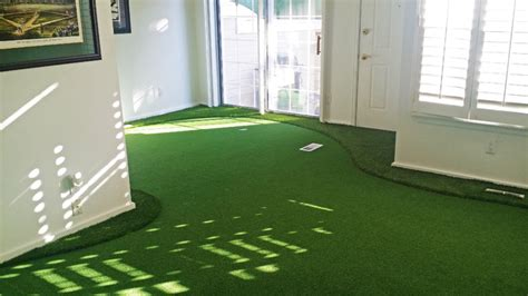 Living Room Putting Green Indoor Putting Greens Contemporary Living Room