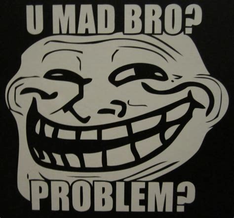 U Mad Meme Face - items similar to troll face u mad bro vinyl decal sticker