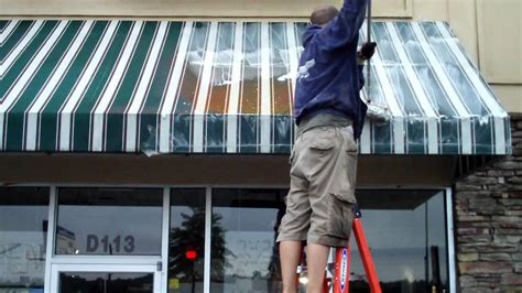 how to clean awnings awning cleaning chicago canopy cleaning chicago youtube