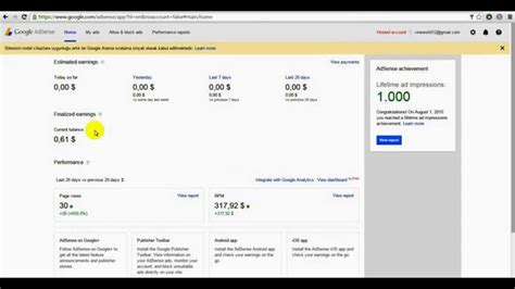 adsense revenue youtube adsense earnings youtube