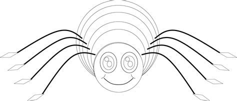 spider outline coloring page spider web outline cliparts co