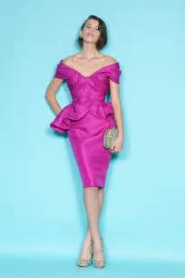 fuchsia color dress the shoulder fuchsia bridesmaid dress by marchesa