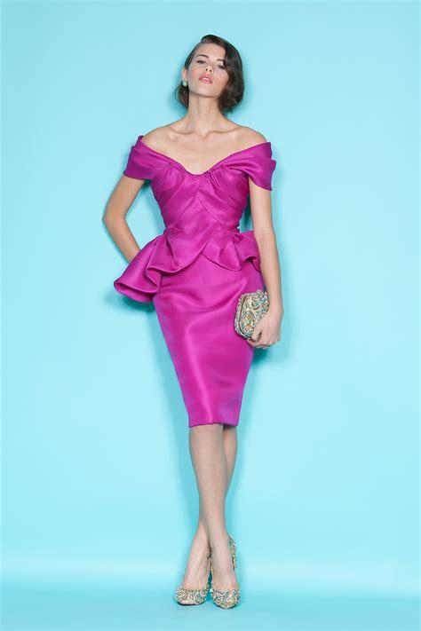 Pink Fuchsia Dress the shoulder fuchsia bridesmaid dress by marchesa