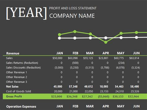 Profit And Loss Office Templates P L Presentation Template