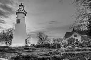 Lighthouse House Plans Marblehead Lighthouse And Lightkeeper House In Black And