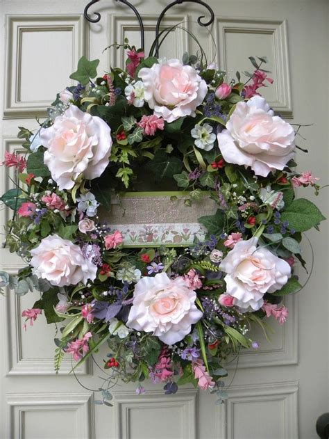 grapevine floral design home decor the grapevine floral pink rose door wreath arrangement