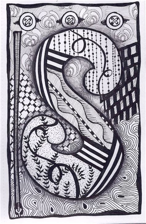 doodle for s zentangle letter s zebra letters name bunting by
