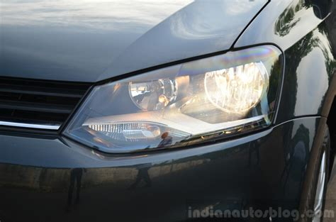 volkswagen polo headlights 2014 vw polo facelift first drive headlight indian autos
