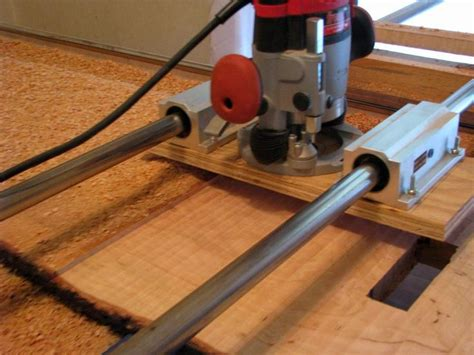 router jig  flattten large slabs woodworking