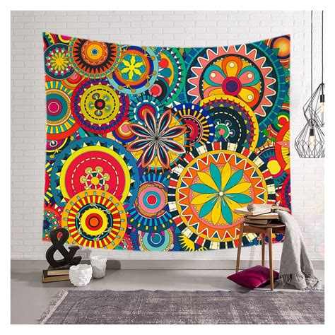 tapestry home decor colorful floral print wall tapestry home decor custom shower curtain store