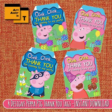 peppa pig thank you card template 17 best images about peppa pig on