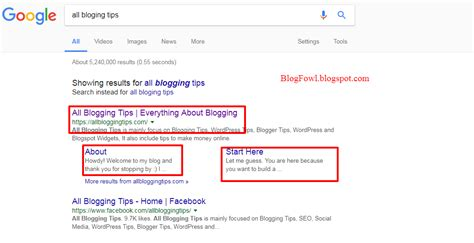 blogger description how to add different discription for different pages in