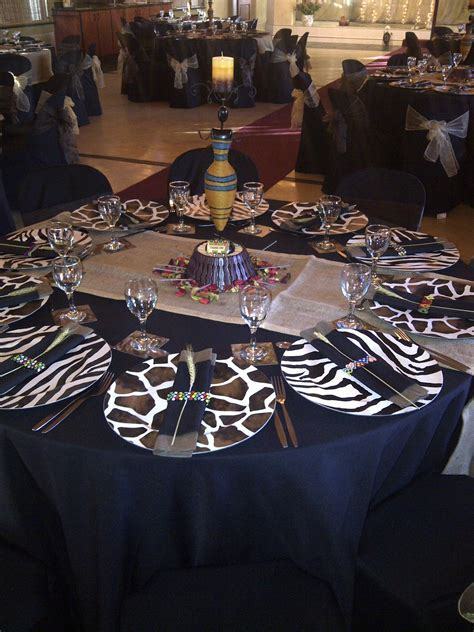 My African Sky table setting   Tablescapes   Pinterest