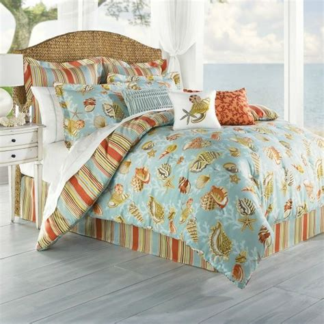 beachy bedding coastal life coral beach queen comforter ebay