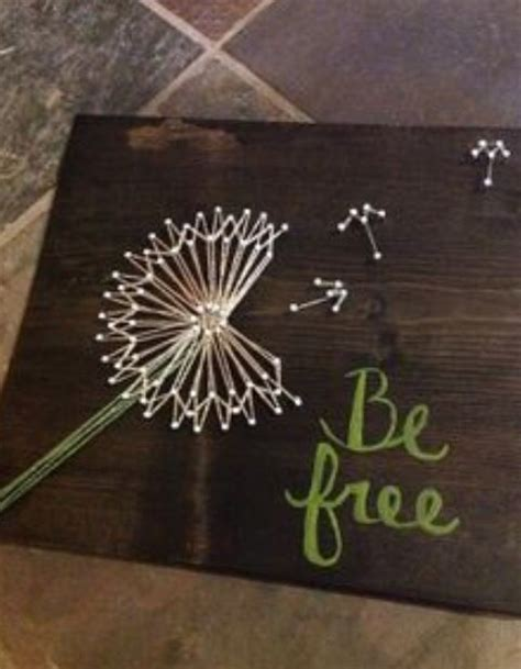 String Board - dandelion string and nails board creatively crafty