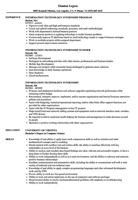 information technology resume samples