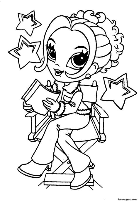 printable coloring pages of a girl cute coloring pages for girls to print download