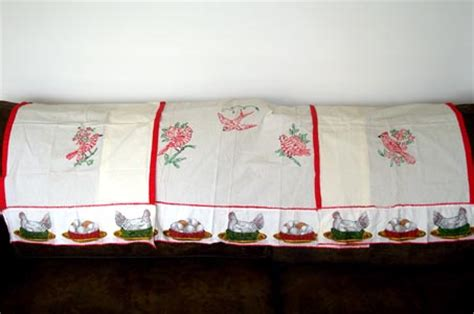 pink bird curtains embroidered red birds kitchen curtains 3 panels from