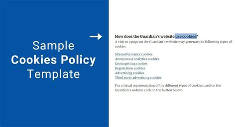privacy policy cookies template sle cookies policy template termsfeed