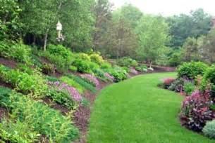 backyard garden designs on landscaping ideas for hills in