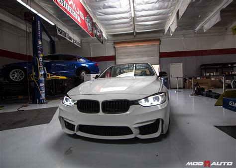 m styler bmw f30 with a f80 m3 style bumper upgrade mod auto