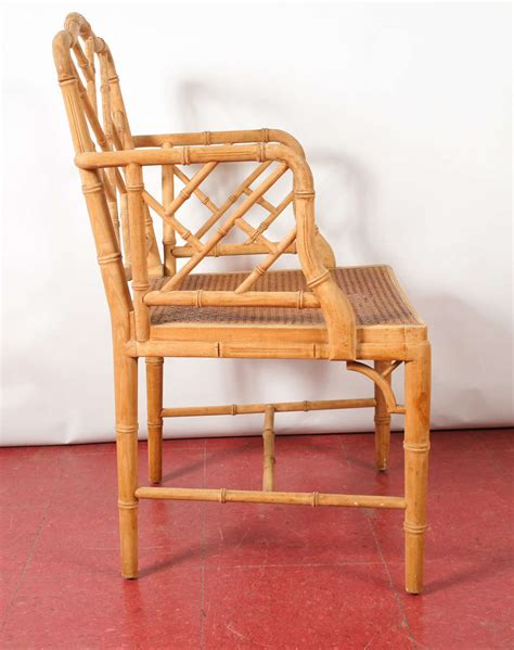 pair of chinese bamboo chairs at 1stdibs chinese faux bamboo chippendale style arm chairs pair at