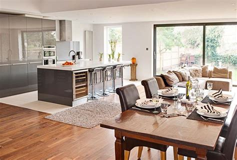 open plan kitchen diner designs getting creative the open plan kitchen dinner buyers