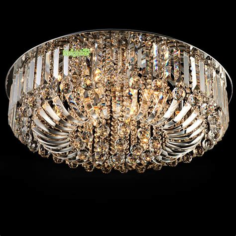 Modern Luxury Led Crystal Round Pendant Light Ceiling L Chandeliers Led