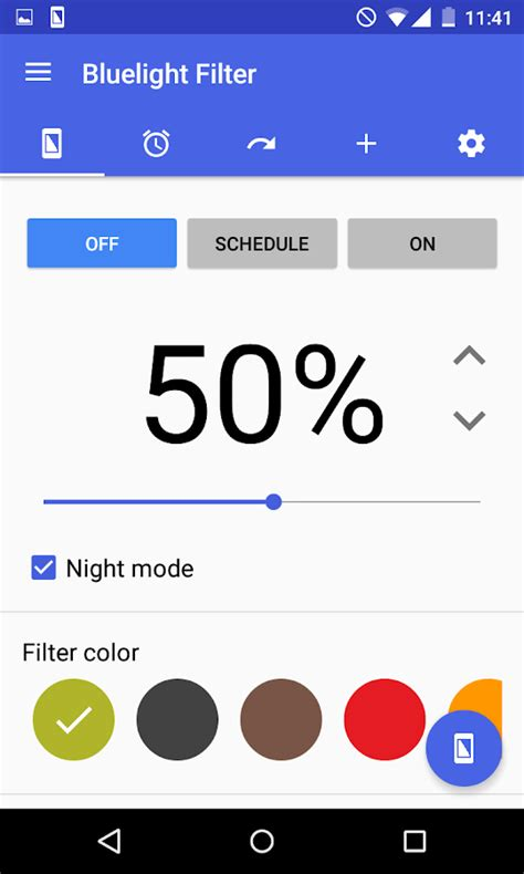 what is the blue light filter for blue light filter for eye care mode android apps