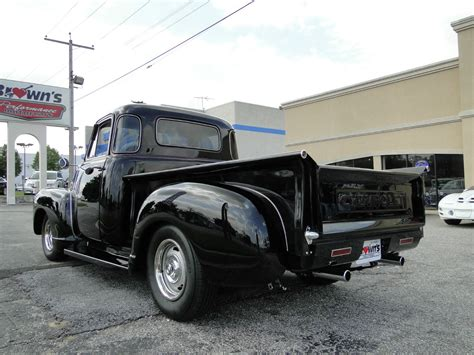 truck car black 1951 chevy 5 window black cherry pickup truck classic