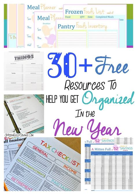 helping your kids get organized this new year 30 free resources to get you organized in the new year a