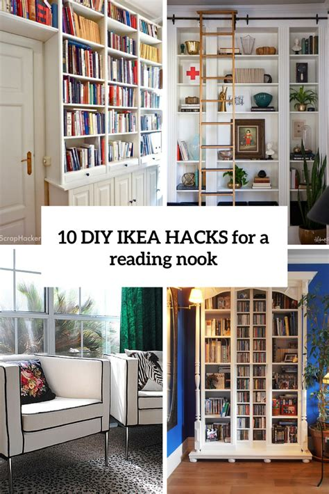 Ikea Home Library Design 10 Diy Ikea Hacks For A Home Library Or A Reading Nook