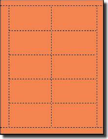 business card template wide 10 per sheet 500 orbit orange laser and inkjet printable both sides